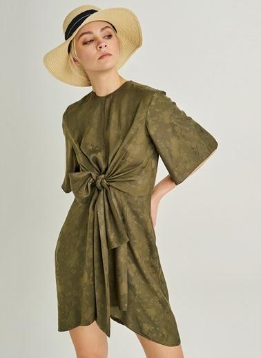 People By Fabrika Önü Bağlama Detaylı Elbise Haki